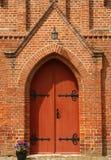 教会门 丹麦 免版税库存图片