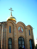 教会顶层 免版税库存图片