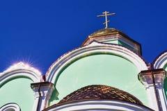 教会顶层 免版税库存照片