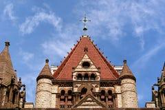教会顶部三位一体 库存照片