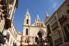 教会马拉加西班牙周围 库存图片
