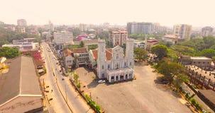 教会鸟瞰图在印度 股票视频