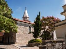 教会,奥帕蒂亚,克罗地亚 免版税库存图片