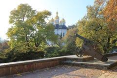教会,风景,乌克兰,高轴 免版税库存照片