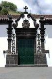 教会, Ribeira Quente,葡萄牙 图库摄影