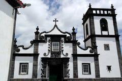 教会, Ribeira Quente,葡萄牙 库存照片