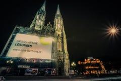 教会维也纳votiv 免版税库存照片