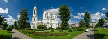教会 北部欧洲,圣彼得堡,列宁格勒,俄罗斯 全景 图库摄影