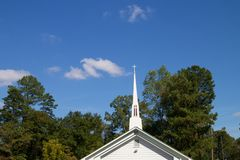 教会/十字架 库存图片