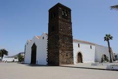 教会费埃特文图拉岛la oliva 免版税库存照片