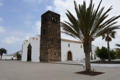 教会费埃特文图拉岛la oliva 免版税库存图片