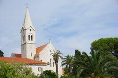 教会-布拉奇岛& x28;Croatia& x29; 库存图片