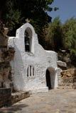 教会贴水帕帕佐普洛斯克利特海岛在希腊 库存照片