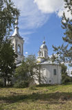 教会巴拉姆Khutynsky在市沃洛格达州 免版税图库摄影