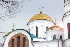 教会 美丽的教会在冬天 免版税库存照片