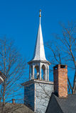 教会细节在缅因 免版税库存图片