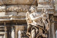 教会细节的特写镜头在巴勒莫,西西里岛 库存照片
