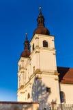 教会- Uhersky Brod,捷克塔  库存图片