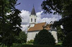 教会Badljevina,克罗地亚 免版税库存图片