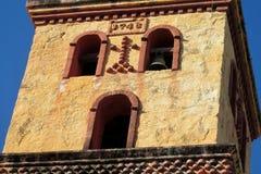 教会bellfry在Puerto Quijarro,圣克鲁斯,玻利维亚 免版税库存图片