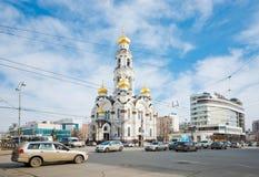 教会Bolshoi兹拉托乌斯特(大Chrysostom,马克西门科教会) 库存图片