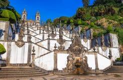 教会Bom耶稣台阶做Monte 图库摄影