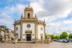 教会Bom耶稣da Cruz在巴塞卢斯-葡萄牙 库存照片