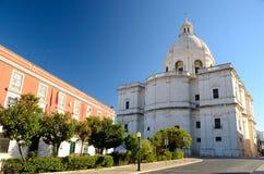 教会cia工程的里斯本圣诞老人 免版税库存图片