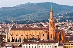 教会croce佛罗伦萨圣诞老人托斯卡纳视&#22 免版税库存图片