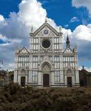 教会croce详细资料佛罗伦萨圣诞老人 库存图片
