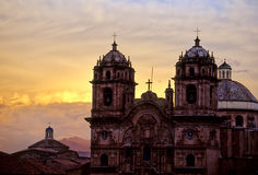 教会cusco秘鲁 图库摄影