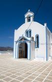 教会cyclades希腊海岛芦粟pollonia 免版税库存照片