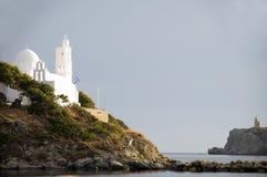 教会cyclades希腊ios海岛 免版税库存图片