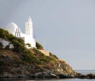 教会cyclades希腊ios海岛 库存图片