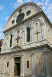 教会dei玛丽亚miracoli圣诞老人威尼斯 库存照片