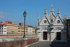 教会della玛丽亚・比萨圣诞老人spina 免版税库存图片