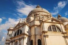 教会della玛丽亚致敬圣诞老人威尼斯 免版税库存照片