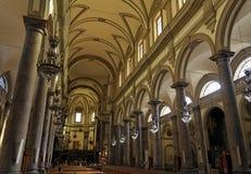 教会domenico主要教堂中殿巴勒莫圣 免版税库存图片