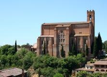 教会domenico ・意大利圣・ siena 免版税库存图片