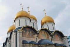 教会dormition 克里姆林宫莫斯科 联合国科教文组织遗产 免版税库存图片