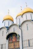 教会dormition 全视图 克里姆林宫莫斯科 库存照片