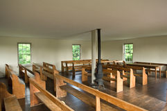 教会dunker内部视图 免版税库存照片