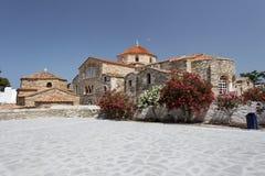 教会ekatontapiliani panagia paros 免版税库存照片