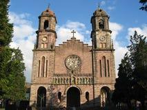 教会elizondo著名门户 免版税库存照片