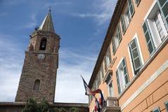 教会en frejus大厅城镇 免版税库存图片