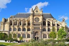 巴黎 教会eustache圣徒 免版税库存图片