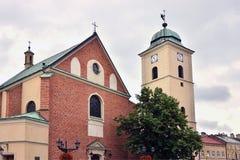 教会fara rzeszow 免版税库存图片