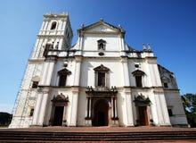 教会goa印度 免版税图库摄影