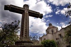 教会guadalupita la墨西哥墨瑞利亚 库存照片