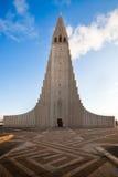 教会hallgrimskirkja冰岛雷克雅未克 免版税库存照片